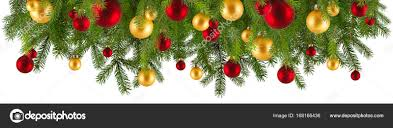 christmas garland with ornaments isolated u2014 stock photo piolka