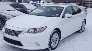 lexus es300 white 2014 lexus es 300h hybrid in white navigation package review youtube