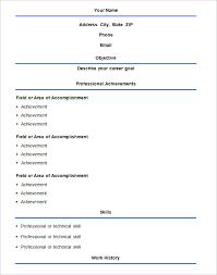 Word Format Resume Sample by Download Basic Resume Sample Haadyaooverbayresort Com