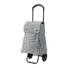 ikea wheeled cart knalla shopping bag with wheels black white ikea
