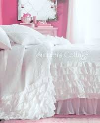Shabby Chic Twin Quilt by Twin Dreamy White Ruffles Quilt Shabby Romantic Cottage Chic