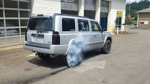 commander jeep srt8 jeep commander 1st burnout 1 wheel peel youtube