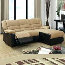 Small Leather Sofa With Chaise Small Size Leather Sofa Corner Sectional Sofas Ideas Reclining