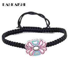 black thread bracelet images Fashion charm bracelets delicate lucky flower charm black thread jpg