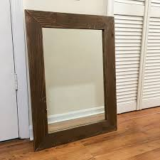 amazon com rustic barnwood mirror farmhouse mirror reclaimed