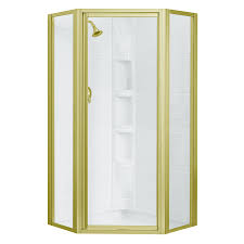 Brass Shower Door Shop Sterling 72 In H Polished Brass Neo Angle Shower Door At