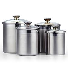 stainless steel kitchen canister sets top 10 best kitchen canisters stainless steel best of 2018 reviews