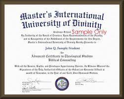 master u0027s international university of divinity degree replacement