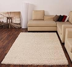 shaggy rug high pile long pile modern carpet uni cream ivory