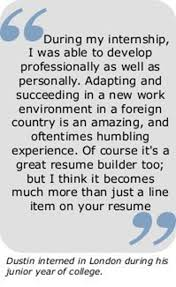 Study Abroad On Resume Intern Abroad Ipfw