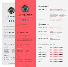 good resume designs free clean simple minimal interactive resume design template for