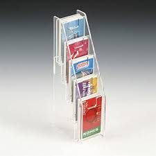 gift card display displays2go tiered gift card display rack 5 pocket notched design