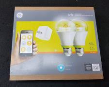 ge link light bulb ge link starter kit hub and 2 a19 led bulbs soft white 60w