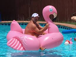Riding HUGE Inflatable Pink Flamingo Fails and Success