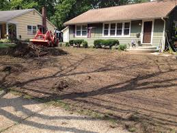 How To Regrade A Backyard Michael U0027s Landscape Design South Jersey Excavating Grading