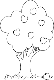 apple tree coloring pages coloring apple tree picture