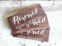 Wedding Table Signs The 25 Best Reserved Wedding Signs Ideas On Pinterest Reserved