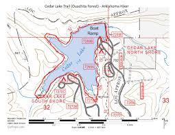 Ouachita Mountains Map Cedar Lake Trail Ouachita Forest U2013 3 Mi Arklahoma Hiker