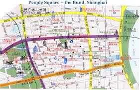 map from people square to the bund huangpu park