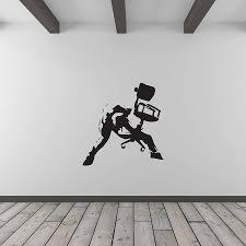 office wall art banksy rockstar office worker wall art by vinyl revolution