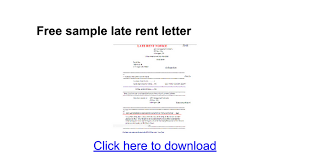 Sle Certification Letter For Payment Free Sample Late Rent Letter Google Docs