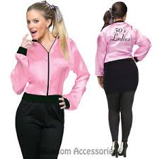 Halloween Costumes Pink Ladies Cl150 Pink Satin Ladies Grease Jacket Lady 1950s 50 U0027s Frenchie