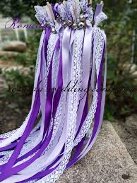 wedding wands free shipping 50pieces lot style d purple ribbon lace wedding