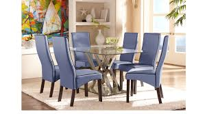 rooms to go dining sets empire place metal 5 pc rectangle dining set contemporary