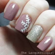 general good looking brown nail art design ideas with white flower