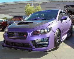 subaru sports car wrx 2015 subaru wrx sti shown here in a special purple vinyl wrap