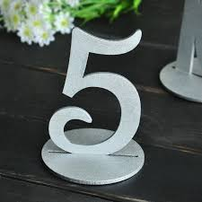 silver wedding table numbers set 1 10 wedding table numbers silver table number wedding table