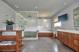 Shower Head In Ceiling by Contemporary Master Bathroom With Undermount Sink U0026 High Ceiling