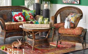 Pier One Chairs Living Room Temani Brown Wicker Chair Pier 1 Imports Regarding One Furniture