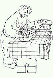 bear inthe big blue house prepare dining table colouring