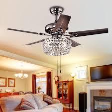 Light Crystal Chandelier Angel 3 Light Crystal Chandelier 5 Blade 43 Inch Brown Ceiling Fan