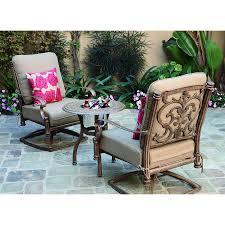 shop darlee santa barbara 3 piece aluminum patio conversation set at