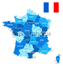 Lille France Map by France Map And Flag Illustration U2014 Stock Vector Dikobrazik