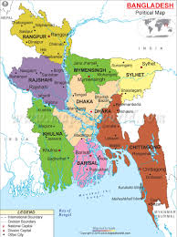 Map Of India With States by Political Map Of Bangladesh Bangladesh Divisions Map
