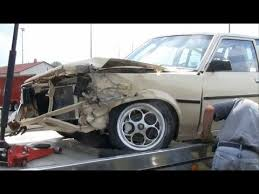 8 second toyota corolla drag race crash car total loss or not