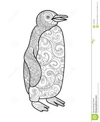 penguin coloring book for adults vector stock vector image 71092267