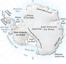 Map Of Antarctica Antarctica Terrain Map Map Of Antarctica Antarctica Travel Map