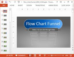 flowchart template with animated funnel diagrams