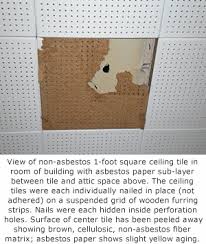 Asbestos In Basement by How To Tell If Ceiling Tiles Contain Asbestos
