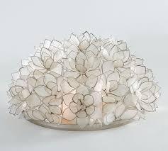 capiz flush mount light pottery barn capiz flush mount ceiling light 15 chandelier lotus