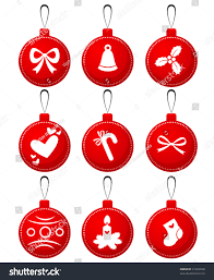 decorations painted on balls stock vector 91263548