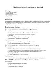 Employment History On Resume Objective On Resume Examples Resume Example And Free Resume Maker