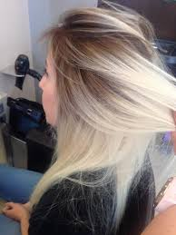 root drag hair styles photos blending dark roots to blonde black hairstle picture
