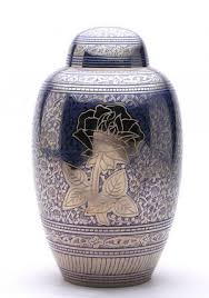 urn for human ashes numerous designs blue flower memorial urn human ashes