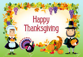 vector illustration of happy thanksgiving day background royalty