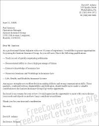 adjuster cover letter sample